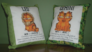 Photo: Completed 9 & 10 Dec-2006. Made these for my parents after I finished the Cancer pillow. Made a great Christmas gift.