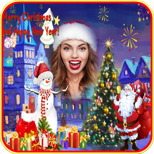 Merry Christmas-New Year Photo Frame