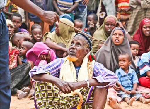 Refugees at the Dadaab camp