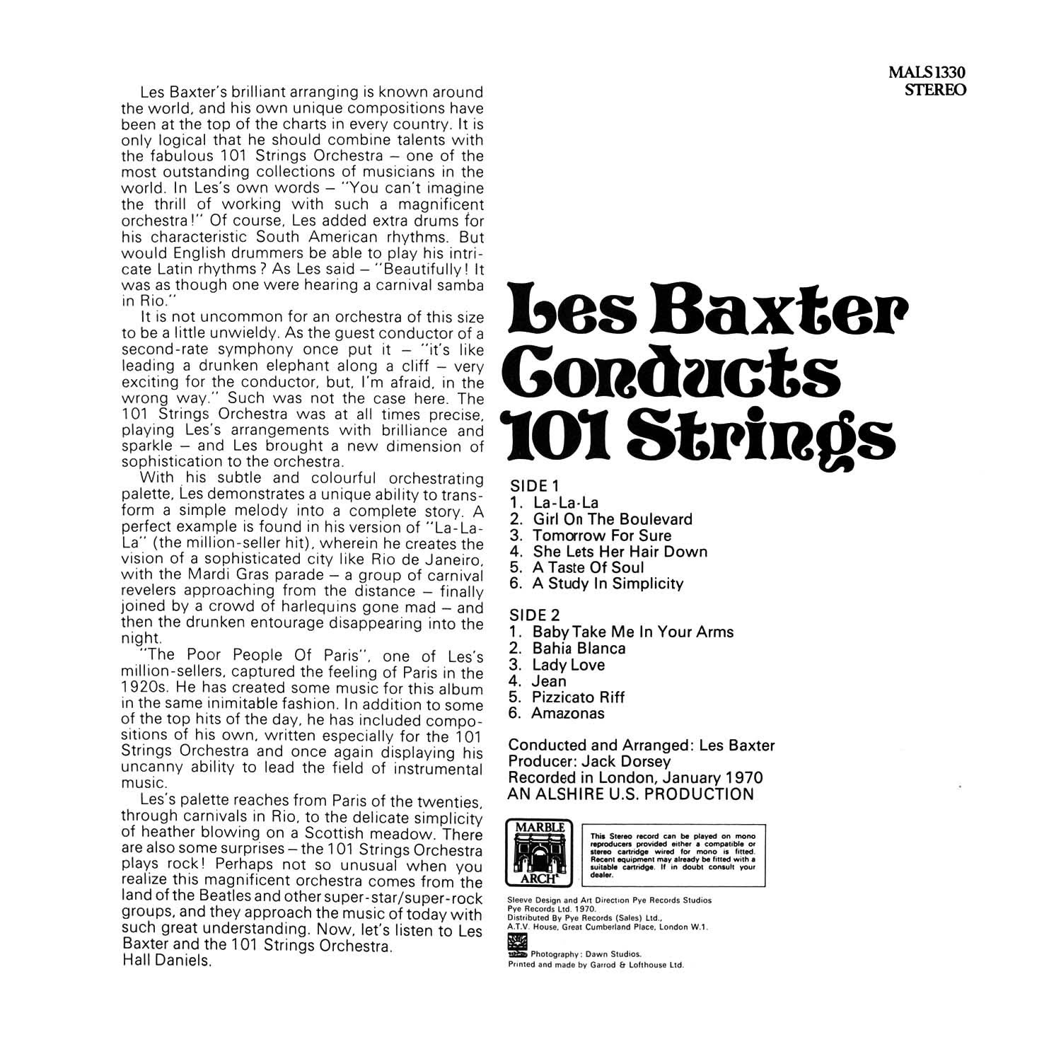 101 Strings, Les Baxter