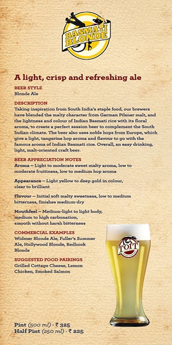 Toit Brewery - Taproom & Kitchen menu 3