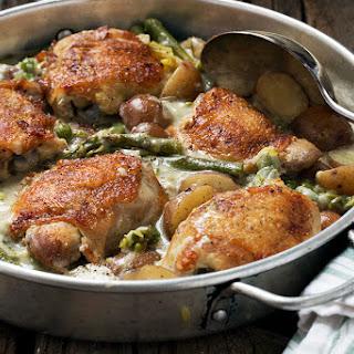 Creamy Asparagus Potato Chicken Recipe