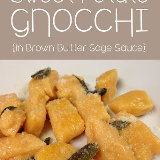 Sweet Potato Gnocchi in Brown Butter Sage Sauce