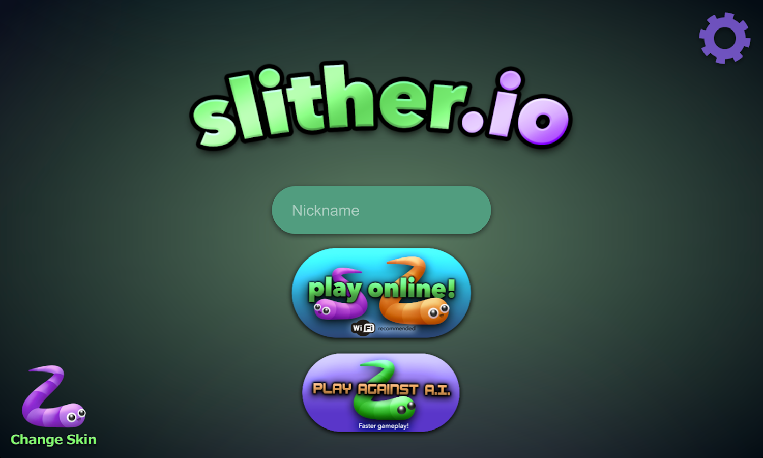 slither.io: captura de pantalla