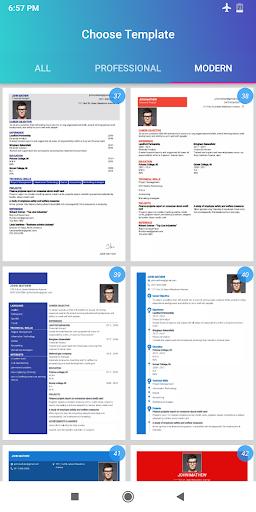 Resume Builder App Free Cv Maker Cv Templates 2020 Apps On