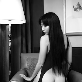 Elegance by ObjeKtiva Artphoto - Nudes & Boudoir Boudoir ( hong kong, model, monochrome, black and white, taiwan, boudoir, elegance, catsuit, asian, sensual, glamour, open, sexy, american, bottom, macau, hot, vonny, feminine )
