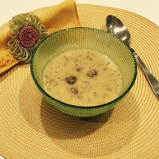 Minty Yogurt Soup With Bulgur Meatballs.