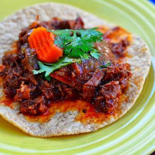 Pressure Cooker Braised Lamb Shoulder Tacos (Cordero Guisado)