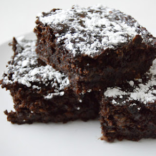 Healthy Double Chocolate Banana Brownies.