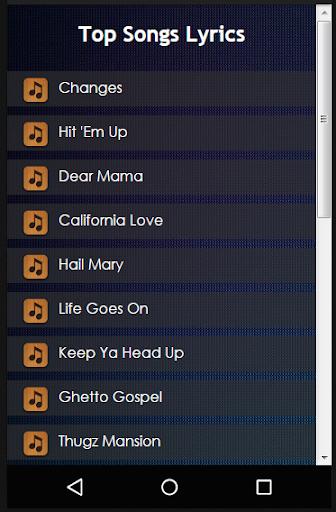 Download 2pac (Tupac Shakur) Lyrics Google Play softwares