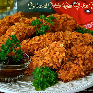 Barbecued Potato Chip Chicken Tenders