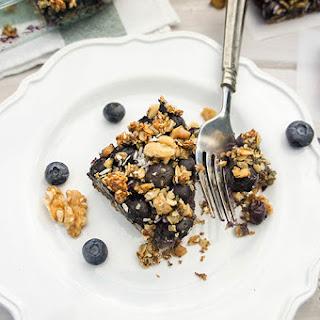 Blissful Blueberry Breakfast Bars (Gluten Free, Sugar Free)