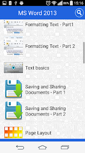 Tutorial for MS Word Free- screenshot thumbnail