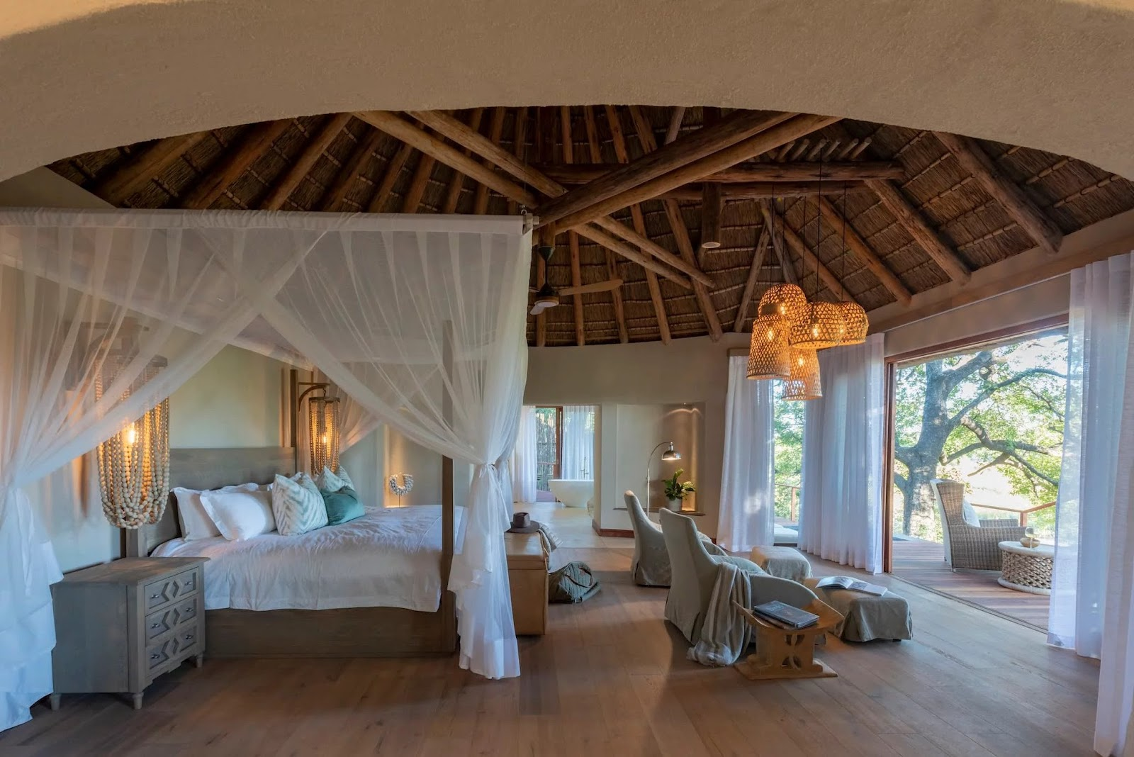 Interior room of Dulini River Lodge offers the perfect honeymoon safari lodge