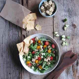 Greek Salad + Tofu Feta