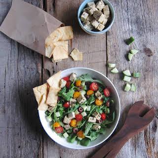 Greek Salad + Tofu Feta.