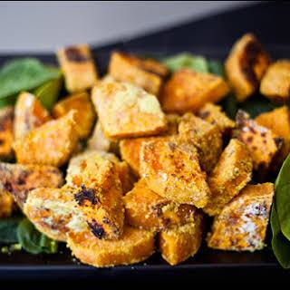 Cheezy Curry Sweet Potato Chunks.