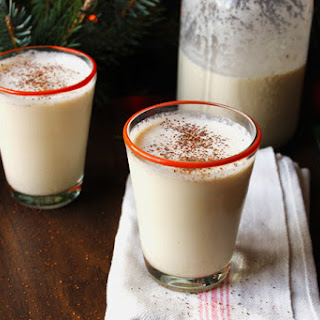 Spiced Bourbon eggnog