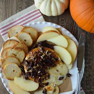 Instant Appetizer - Baked Brie with Fig Jam.