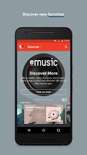 eMusic - náhled