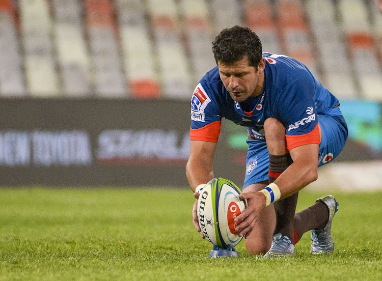 Morne Steyn of Bulls during the Super Rugby Unlocked match against the Cheetahs at Free State Stadium in Bloemfontein.