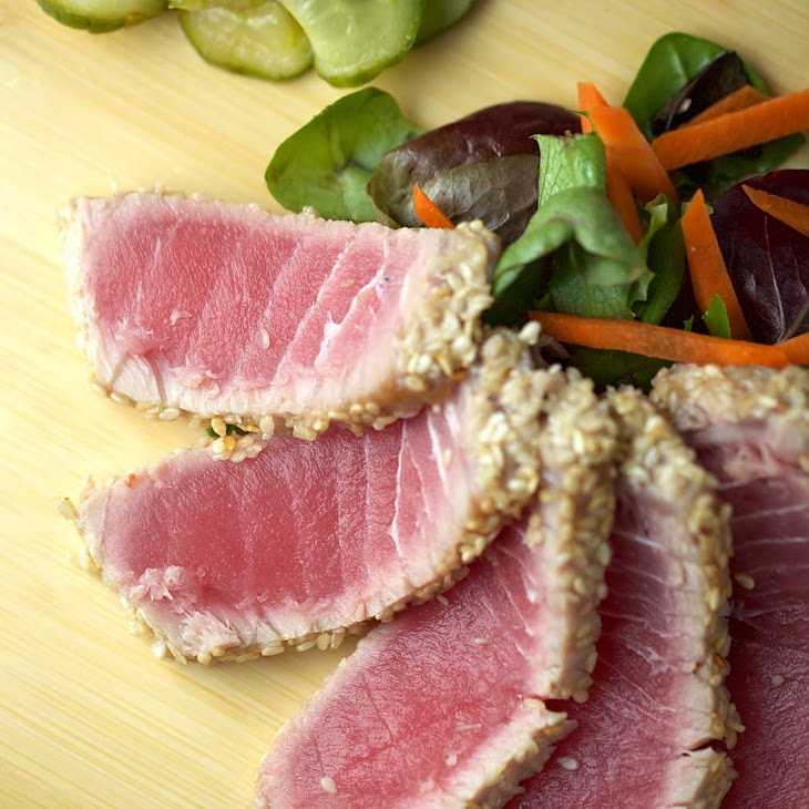 Sesame Crusted Ahi Tuna with Soy Ginger Lime Sauce Recipe