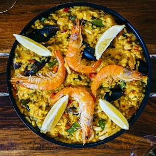Seafood Paella Recipe with Pork and Chicken Recipe