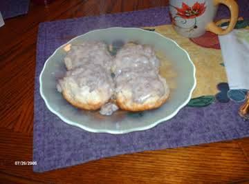 Buzz's Sausage Gravy on Biscuits
