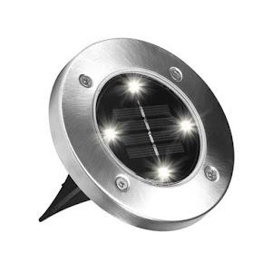 Set 4 x lampa solara cu 4 LED si senzor de lumina cu fixare in sol