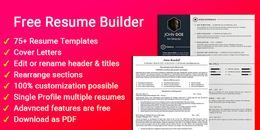Resume builder Free CV maker templates formats app 9.3 screenshots 1