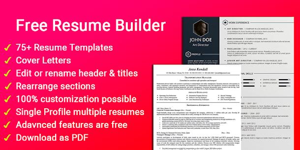 Resume builder Free CV maker templates formats app 9.14 APK + MOD (Unlocked) 1