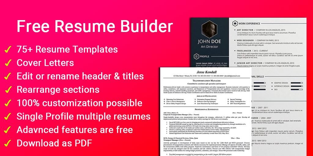 Resume Builder Free Cv Maker Templates Formats App Android