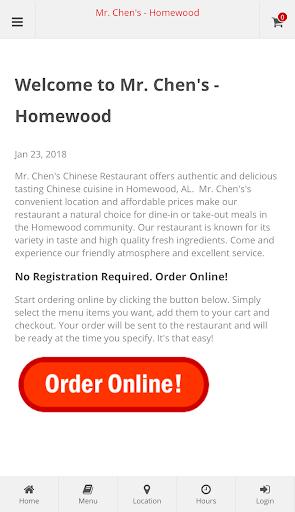 Mr. Chen's -  Homewood Online Ordering  screenshots 1