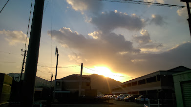 Photo: I saw the first sunrise of 2014 in my hometown Fukuoka, Japan. I will treasure this preciously shining diamond deep in my heart through the year. Good health and happiness to everyone. 1st January updated -http://jp.asksiddhi.in/daily_detail.php?id=410