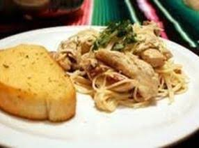 Chicken Dijon With Braised Cabbage Over Linguini