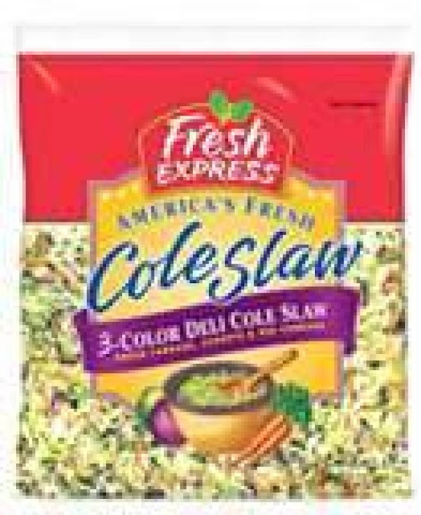 Place bagged coleslaw mix in a bowl.