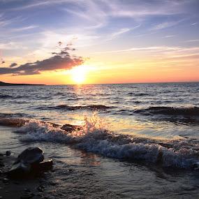 Superior Sunset by Beth Bowman - Landscapes Sunsets & Sunrises (  )