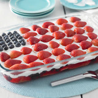 Wave Your Flag Cheesecake.
