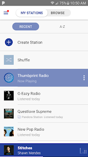 Pandora® Radio Screenshot