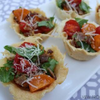 BLT 'Salad' in Parmesan Encrusted Cups Recipe