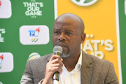 Thabang Moroe (CEO of CSA) during the T20 Challenge talent launch at CSA Offices on April 03, 2019 in Johannesburg, South Africa.