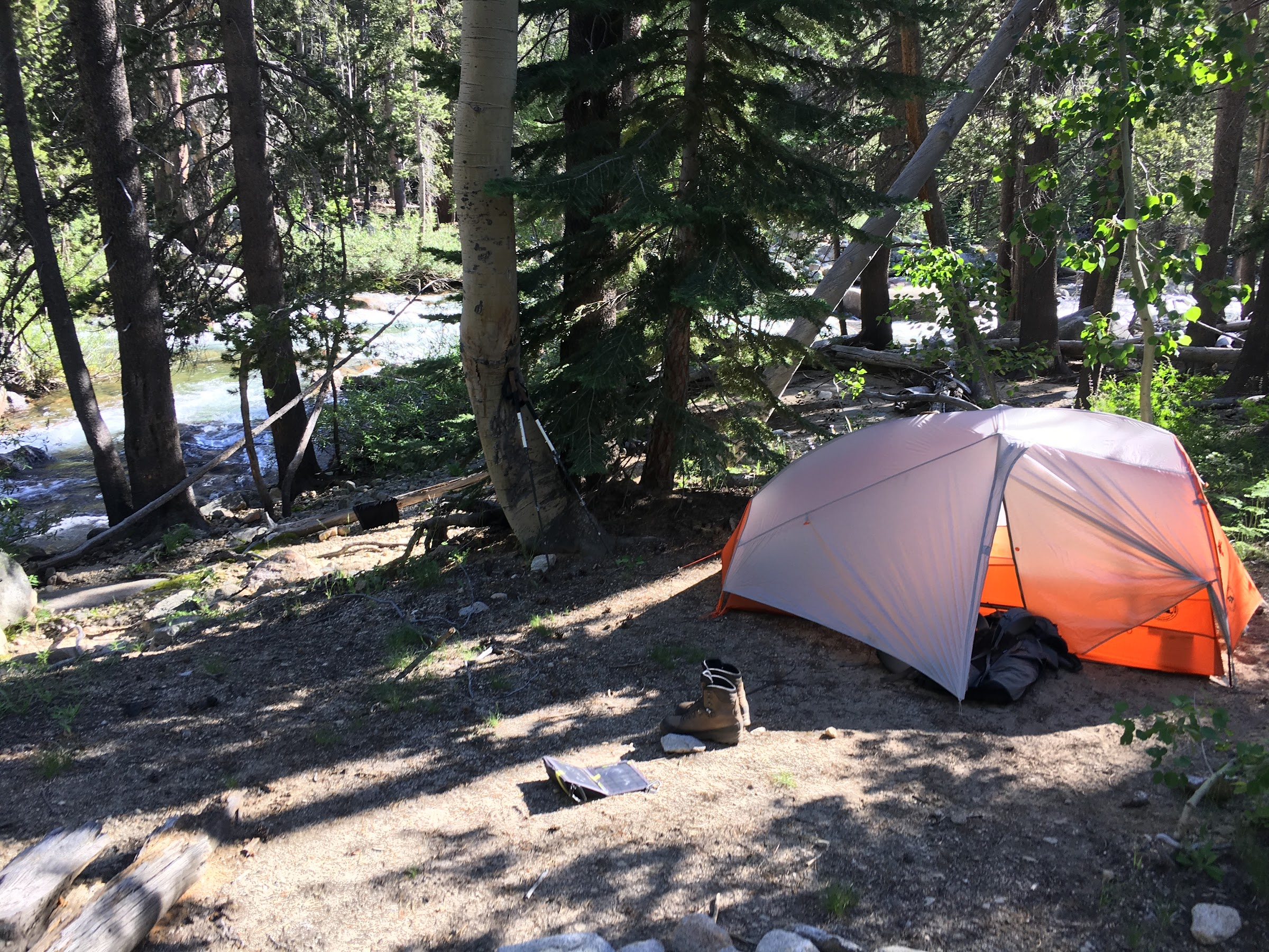 Camp along Bear Creek