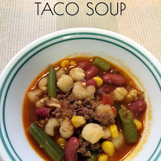 Quick and Easy Taco Soup.