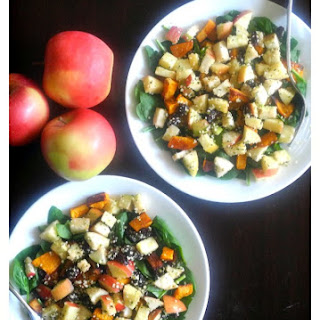 Butternut Apple Salad with Maple Vinaigrette & Hemp Hearts
