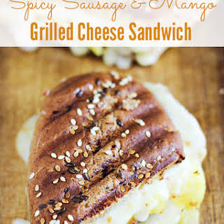 Spicy Sausage and Mango Grilled Cheese Sandwich.