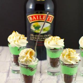 Shamrock Irish Cream Dessert Shots.