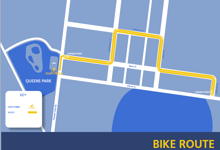 Bike route map  image