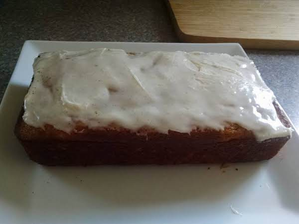 Pumpkin Banana Bread With Vanilla Bean Glaze Recipe