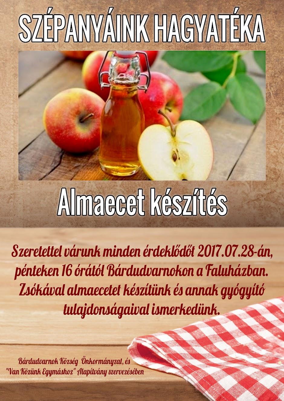 Almaecet készítés plakát