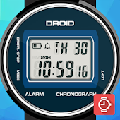 DROID Retro LCD watch face